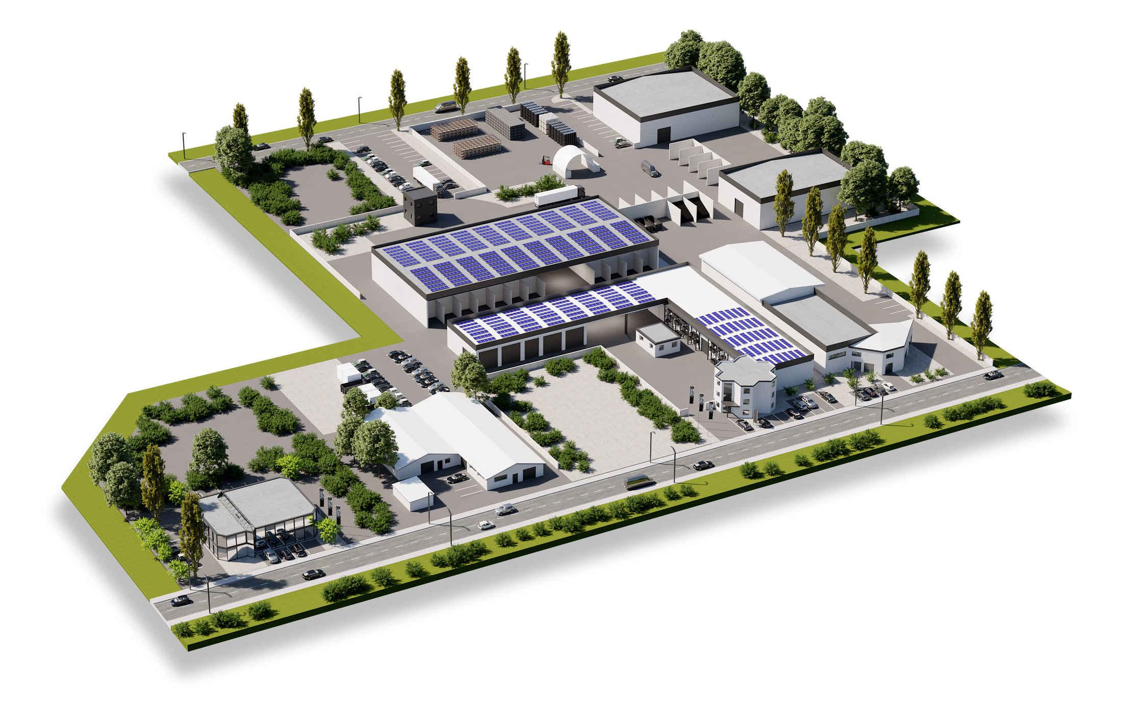 mairec edelmetall precious metals recycling werk firmengelaende standort alzenau company germany