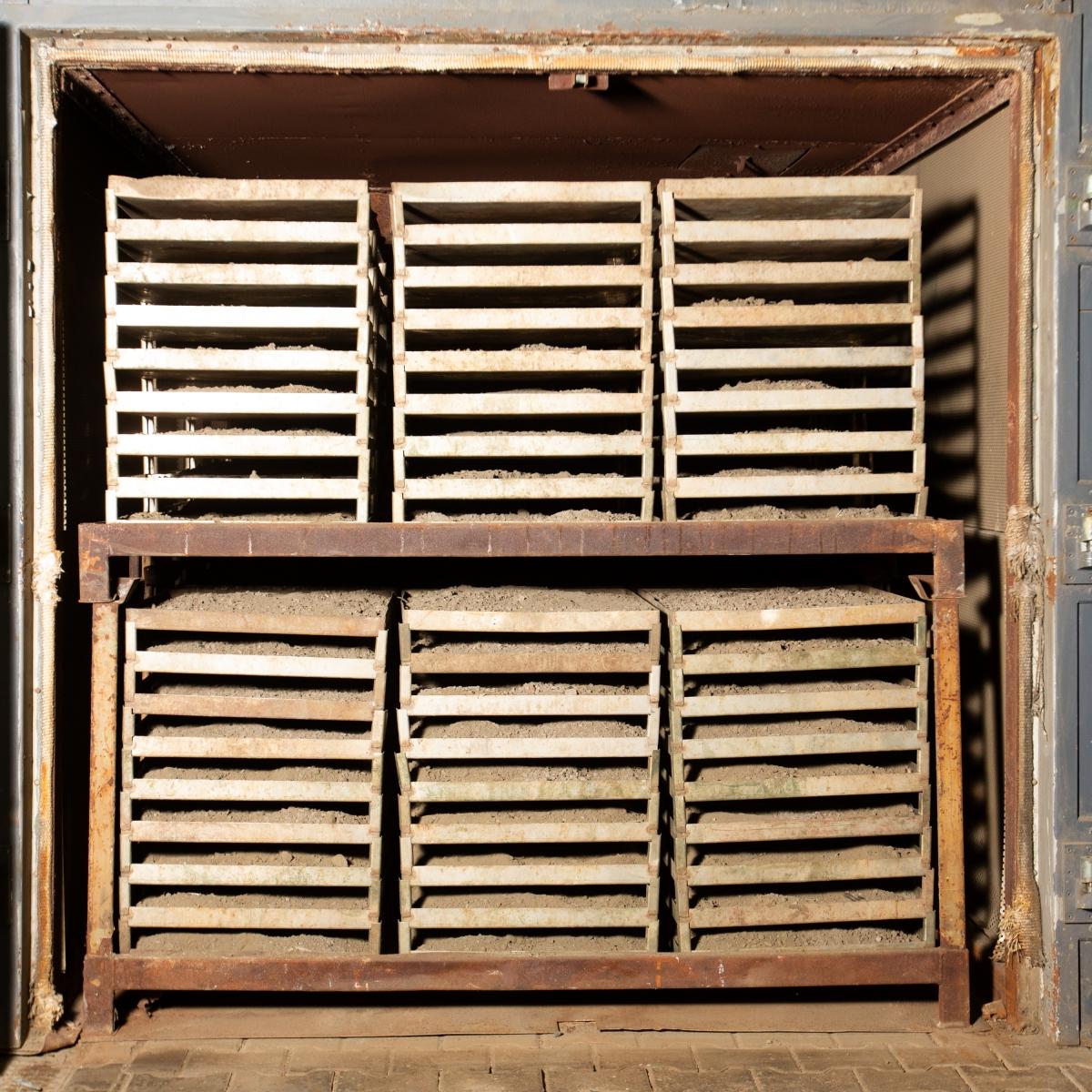 mairec edelmetall precious metals recycling gekraetz konzentrate sweeps concentrates trocknung ofen maschine dry oven